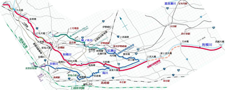 自転車道 群馬 自転車道 : 利根川サイクリングロード ...